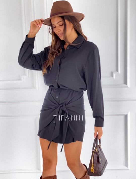 Sukienka wiązana Mauro czarna