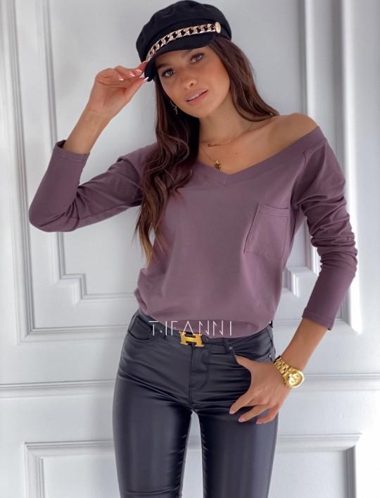 Bluzka z kieszonką Lili choco