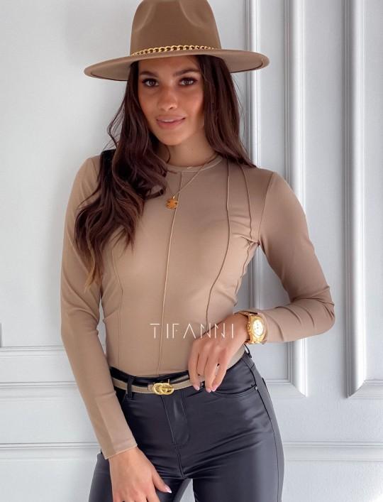 Bluzka top Azari beżowa