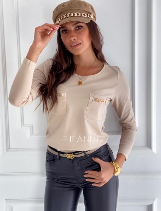 Bluzka Jasmin beżowa