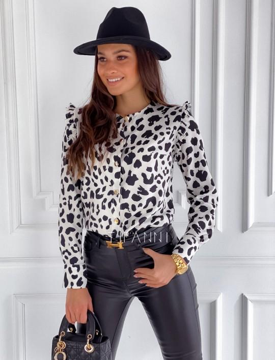 Koszula Porto panther biała