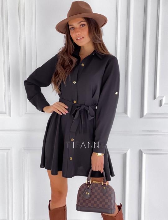 Sukienka koszulowa Kais czarna