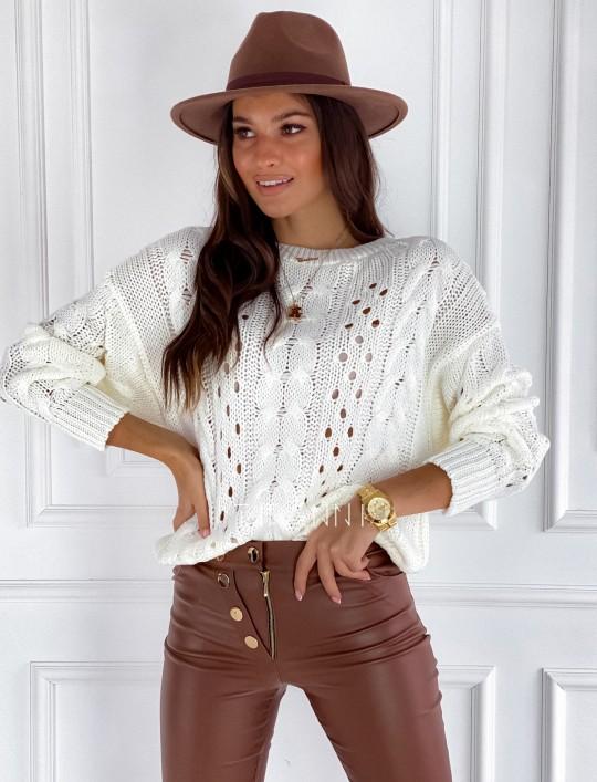Sweter Simply śmietankowy