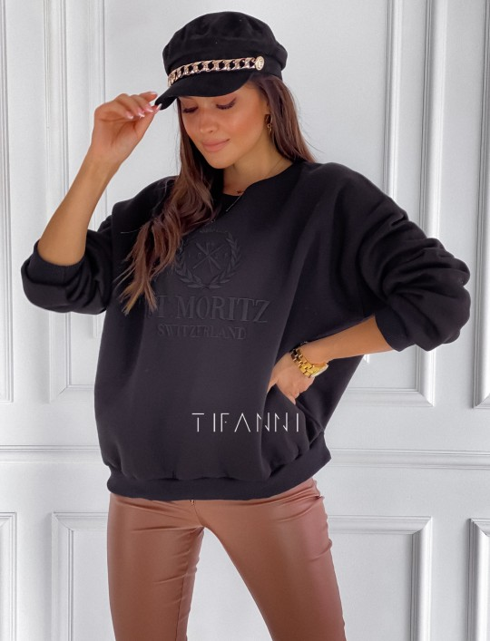 Bluza dzianinowa St.Moritz czarna