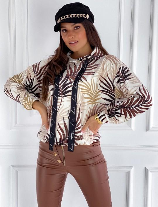 Welurowa bluza z kapturem Miranda III