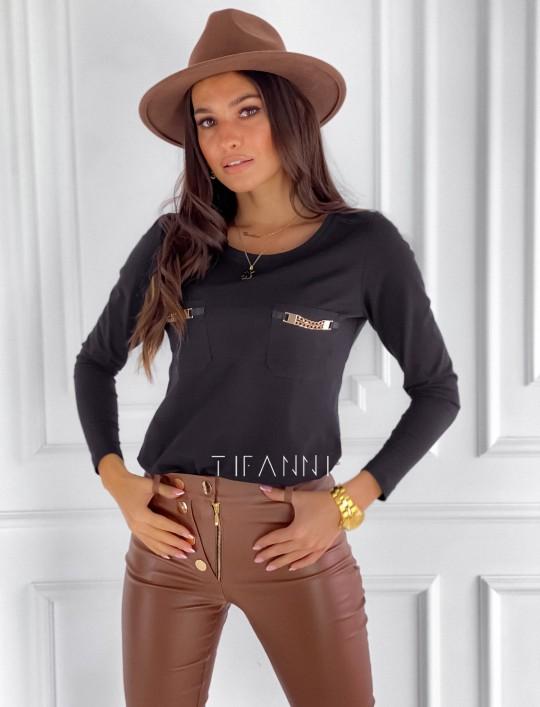 Bluzka Jasmin czarna