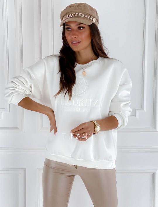 Bluza dzianinowa St.Moritz śmietankowa