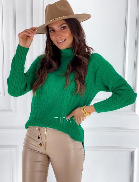 Sweter golf Rael zielony