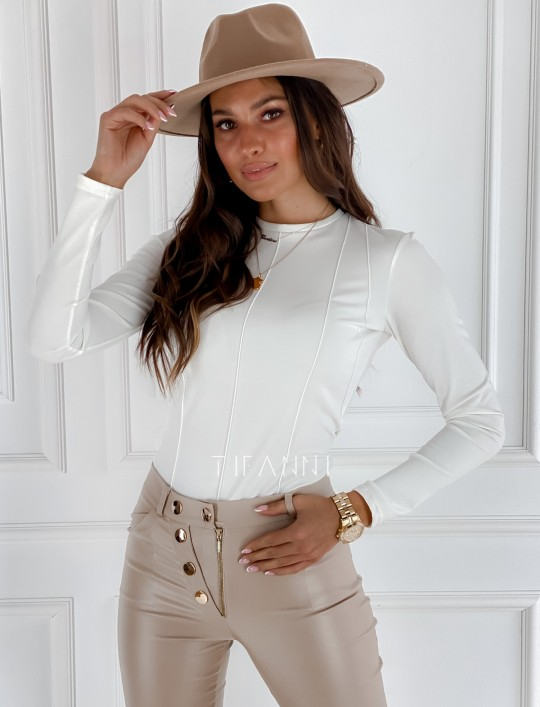 Bluzka top Azari śmietankowy