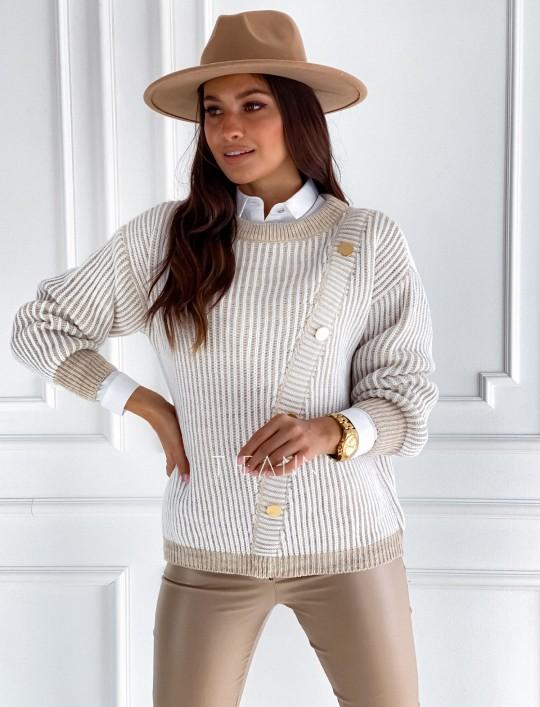 Sweter z ozdobnymi napami Mille