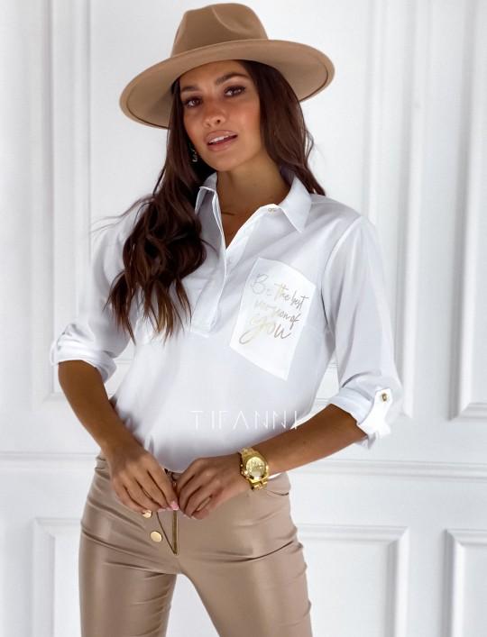 Bluzka koszulowa Best biała